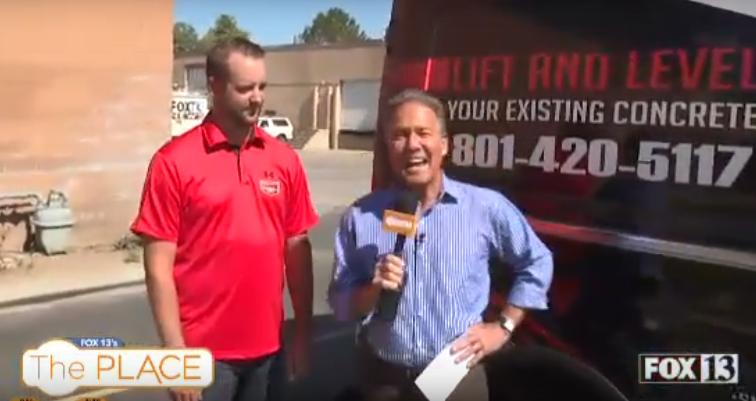 Landmark Lifting on Fox 13 Discussing Polyurethane Concrete Lifting